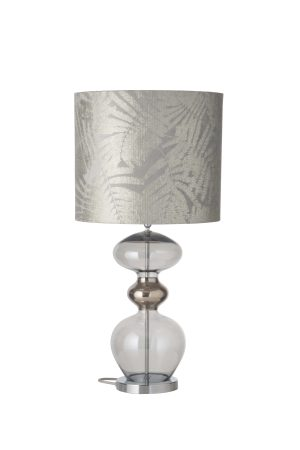 Futura Table Lamp Smokey Grey and Shade