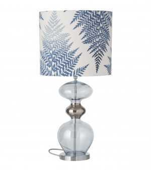 Futura Table Lamp Topaz Blue and Shade