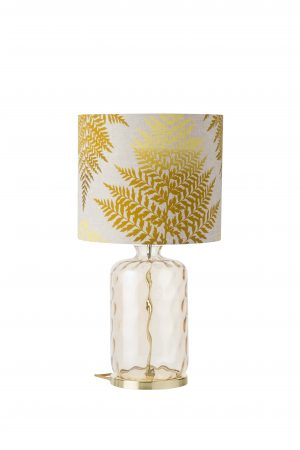 Pillar Table Lamp Golden Smoke Dimples and Shade