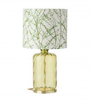 Pillar Table Lamp Olive Dimples and Shade