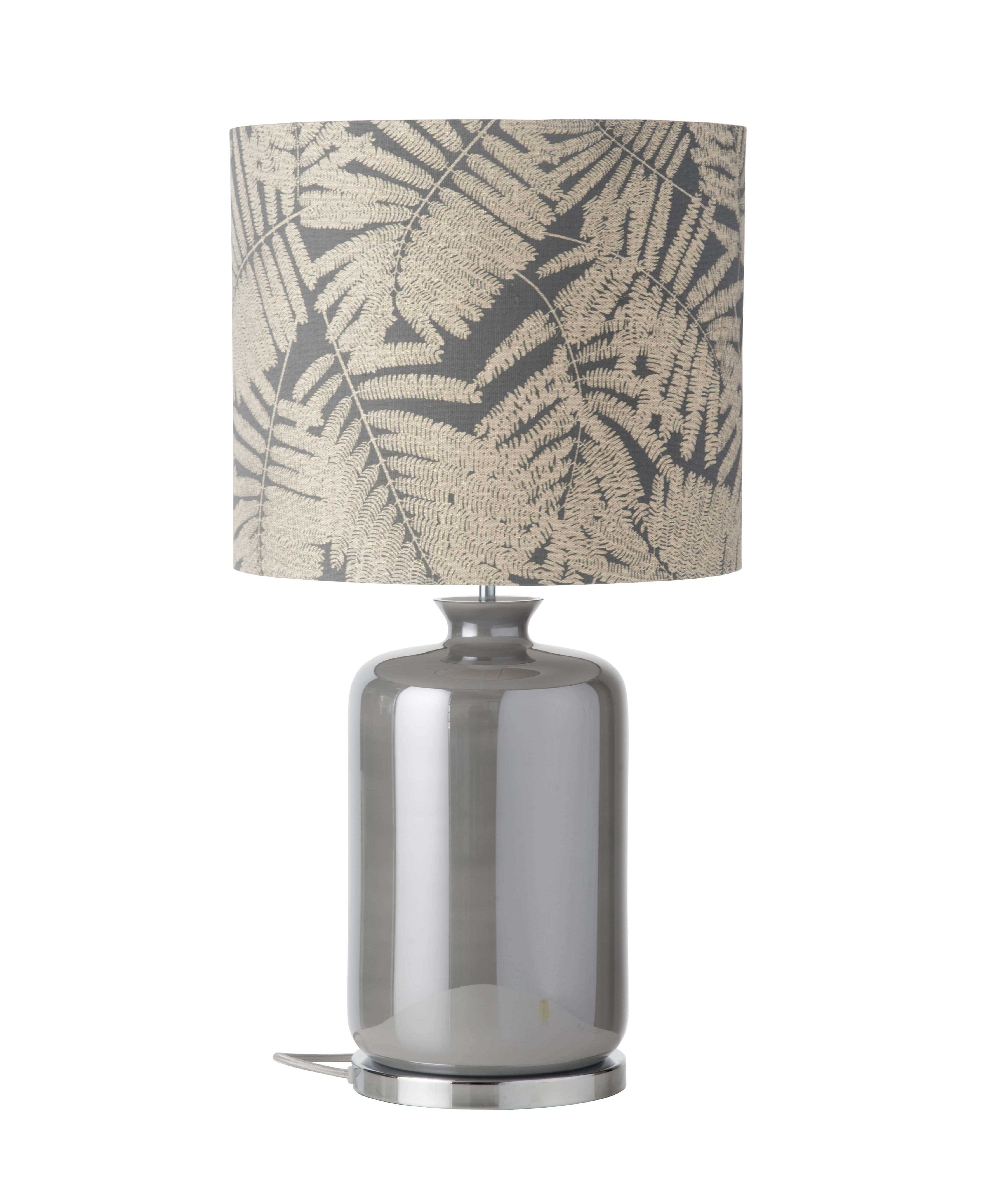Pillar Table Lamp Mother Of Pearl And Shade -Ebb&Flow Here