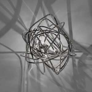Doodle Wall Light Nickel