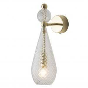 Smykke Wall Light Crystal Gold