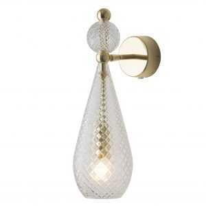 Smykke Wall Light Crystal Gold