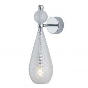 Smykke Wall Light Crystal Silver