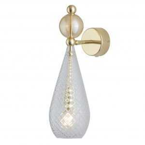 Smykke Wall Light Golden Smoke Ball Crystal