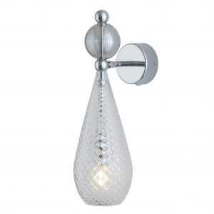 Smykke Wall Light Smokey Grey Ball Crystal
