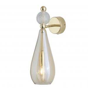 Smykke Wall Light Crystal Ball Golden Smoke