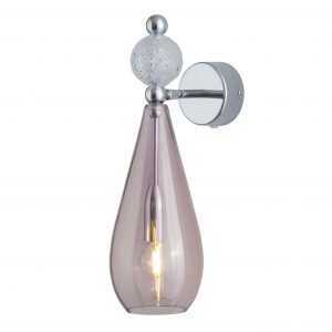 Smykke Wall Light Crystal Ball Obsidian Silver