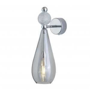Smykke Wall Light Crystal Ball Smokey Grey