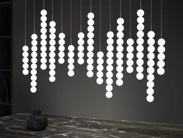 Abacus Pendants Photographed Together.