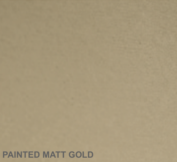 Painted Matt Gold Finish.